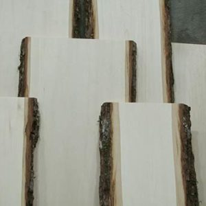 Basswood Bark Edge Planks