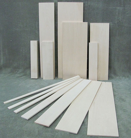 bass wood craft wood for wood carving, model building, hobby wood models and other wood crafts.